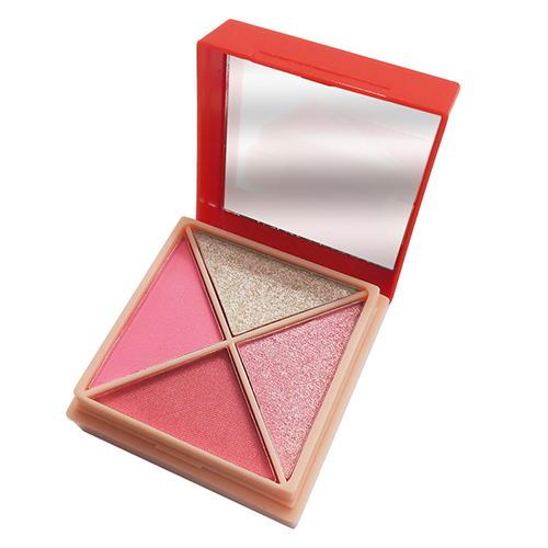 high pigment eyeshadow and blush makeup palette natural color